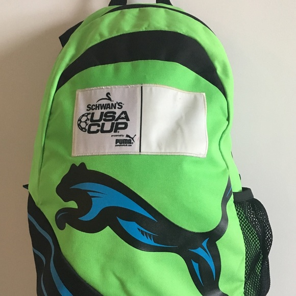 Puma Other - PUMA Neon Green & Blue Sling Backpack Schwann USA